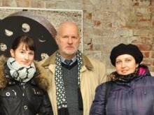 Слева направо: Саша Савостина, Владимир Оглоблин, Елена Рассказова